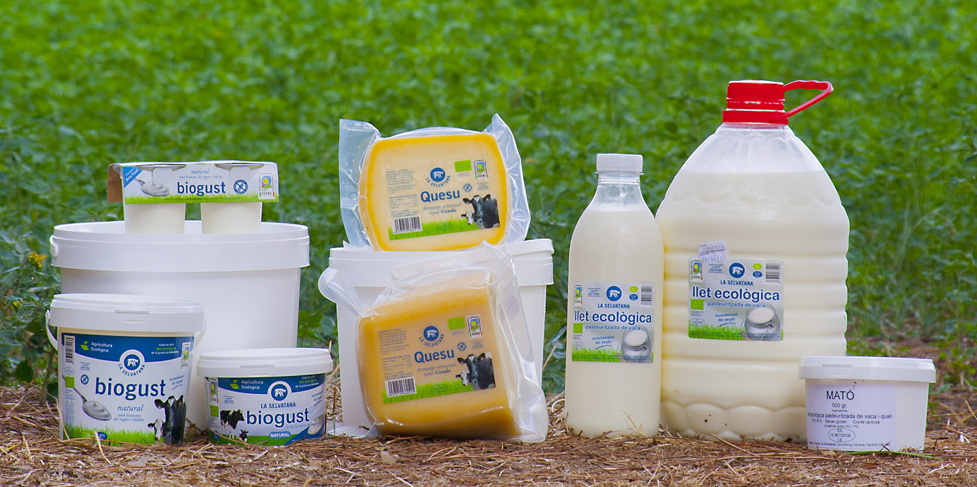 productes lactics ecologics de la granja La Selvatana